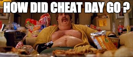 cheat day inspiration for body transformation programme